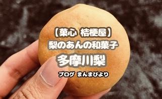 【菓心 桔梗屋】梨のあんが入った和菓子「多摩川梨」川崎名産品