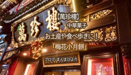 【萬珍樓】薄皮と白餡がおいしい「梅花小月餅」・横浜中華街にある中華料理屋・気軽にお土産・手軽に食べ歩き!
