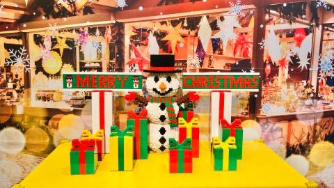 レゴランド 2019年クリスマス サンタクロース レゴブロック クリスマスパーティ レゴランド東京レゴランドディスカバリーセンター東京 作品 雪だるま