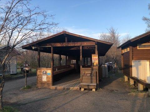 北軽井沢スウィートグラス キャンプ 家族 子連れ 炊事棟 ファミリーキャンプ